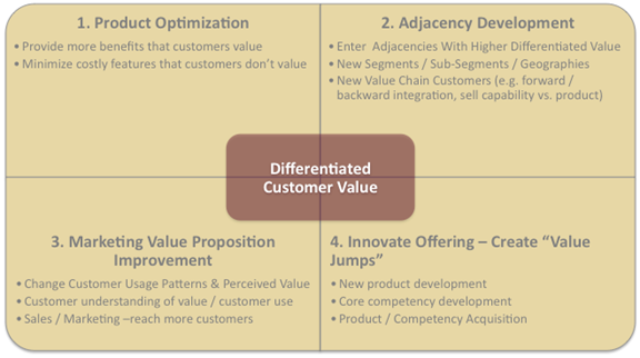 Differentiated Customer Value infographic